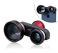 4-in-1 multifunzionale 5X Teleobiettivo con Macro e due lenti fisheye per iPhone 5/5S/5C