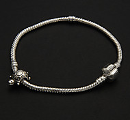 Fashion  Shape 8Cm Women'S Silver Silver Plated Chain & Link Bracelet()(1 Pc)