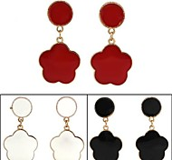 Drop Earrings Star,Jewelry Black / White / Red Alloy Party / Daily