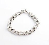 Fashion Vintage  Men's Silver 316L Stainless Steel Chain Cable  Bracelet Christmas Gifts