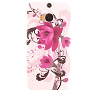 Ink Painting Flowers Design TPU Soft Case for HTC ONE M8