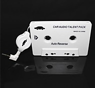 Car Audio Cassette Adapter per i telefoni MP3 / MP3 / Cellulari - White (3.5mm)