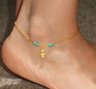 Shixin® Classic Hand Shape Alloy Golden Anklet(Blue,Dark-blue,Black,Pink)(1 Pc)