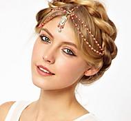 Mode orange perle goldenen Legierung Kopfbügel (1 Stück)