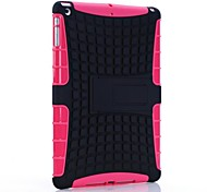 Rugged Rubberized TPU PC Case Kickstand High Impact for iPad Air