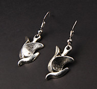 Pendientes de la aleación linda Silver Tulip (1 par)