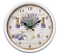 "14""H Retro Style Vintage Metal Wall Clock With White Side"
