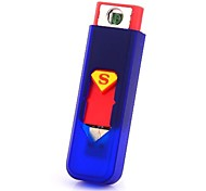 Superman USB Rechargeable Mini Flameless Electronic Cigarette Lighter Can Board the Aircraft