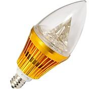 4W E12 Luzes de LED em Vela 3 LED de Alta Potência 210-240 lm Branco Quente / Branco Frio AC 100-240 V