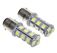 18x5050SMD White Light LED for Car Brake Stop Lamp (2pcs)