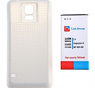Link Dream 3.7V 7800mAh  Thickened Cell Phone  Battery + Matte White  Back Cover with NFC for Samsung S5 I9600 (EB-BG900BBC)