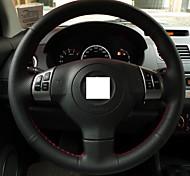 XuJi ™ Black Genuine Leather Steering Wheel Cover for Suzuki Swift
