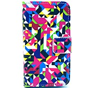 Diamond Puzzle Pattern PU Leather Case with Card Holder and Stand for Samsung Galaxy I8160