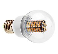 Ampoule LED Ronde Blanc Chaud (220-240V), E27 7W 120x3528 SMD 580-630LM 2700-3500K