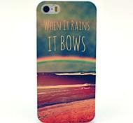 Hard Case Rainbow Sea Voici Voir Motif pour iPhone 5/5S