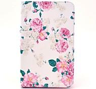 Affaire Full Body de modèle de fleur de Rose avec support pour Samsung Galaxy Tab 3 Lite T110