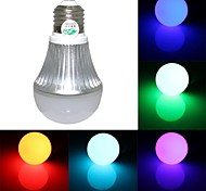Zweihnde E26/E27 1 300~350 LM RGB Dimmable / Remote-Controlled LED Globe Bulbs AC 85-265 V