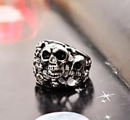 Domineering Men's Full Small Skull Stainless Steel Ring