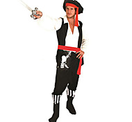 fresco pirata de poliéster negro de halloween costumefor carnaval de los hombres