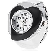 Coeur de forme des femmes de cadran d'alliage de quartz de bande de montre d'anneau analogique