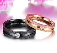 Super Beautiful Exquisite Titanium Pearl Sand Set Auger Lovers Ring