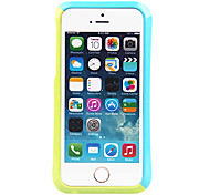 Flesh Blue and Green Joint Plastic Bumper Frame for iPhone 5/5S