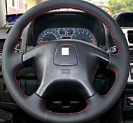 XuJi ™ Black Genuine Leather Steering Wheel Cover for Mitsubishi Pajero Old Pajero Sport