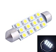 42mm 3W 150LM 6000K 12x3528 SMD White LED for Car Reading/License Plate/Door Lamp (DC12V, 1Pcs)