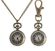 Butterfly Flower Pattern Metallic Keychain Watch/Necklace Watch (1pc)
