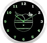 nc0989 Bowl of Fruit kitchen Neon Sign LED Wall Clock
