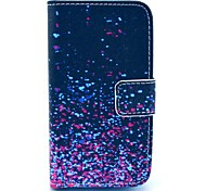 Diamond Fragment Pattern PU Leather Case with Card Holder for Samsung Galaxy I8160