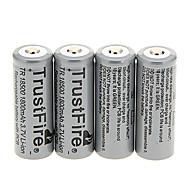TrustFire 1800mAh 18500 batteria (4 pezzi)
