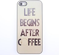 Coffee Design Aluminium Hard Case for iPhone 5/5S