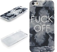 FUCK OFF Pattern  PC Hard Protective Case for iPhone 5/5S