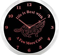 nc0978 Cat Lady Lover Night Light Neon Sign LED Wall Clock