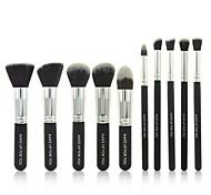 10 Pcs Black Professional Cosmetic Makeup Brushes Set
