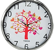 "imess™ 12""H  Tree of Life Artistic Conception Metallic Super Mute Wall Clock"