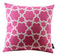 решетки розовый хлопок / лен декоративная наволочка