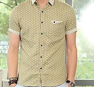 Casual Shirt Spread de manga corta para hombre (patrón aleatorio)