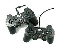 Mango de alta calidad de Wellcome Dual-vibración para juegos de ordenador para PC