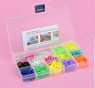 z&arcobaleno X® stile colorato telaio 600pcs bande, 25pcs C o S clip, 1 telai 1 gancio + 1box