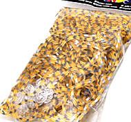 Loom Bands Leopard Pattern DIY Bracelet Rubber Band(600 Bands+24 C Or S Clips)