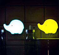 Elephant Shape Light Controlled LED Night Light(Random Color)