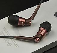 3.5mm JBM-6600 Hi-Fi en la oreja los auriculares auriculares micrófono para iPhone y otros dispositivos de 3,5 mm (varios colores)