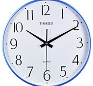 "Timess™ 13""H  Brief Style Narrow Border Mute Wall Clock"