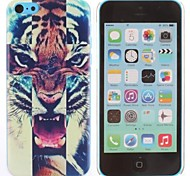 Roaring Tiger Pattern PC Hard Case for iPhone 5C