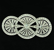 8.1cm Rhinetone Europe Imperial tyle 3 Circle  Brooch Pin for Women