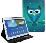 Voor Samsung Galaxy hoesje Portemonnee / Kaarthouder / met standaard / Flip / Patroon hoesje Volledige behuizing hoesje Uil PU-leer