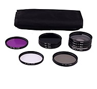 58mm 10pcs UV FLD CPL ND2/4/8 FILTER Kit for Canon Rebel T4i T3i T3 T2i T2 T1i XTi XS 550D 600D 1100D