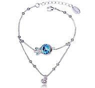Women's New Style Hot Sale Fish Shape Bracelet Made with Swarovski Elements Crystal
